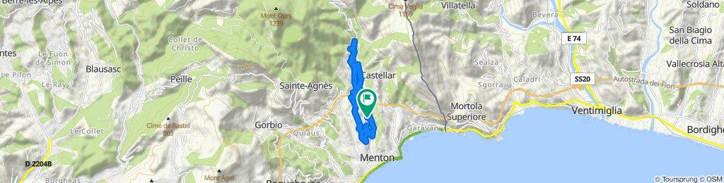 Itinéraire à grande vitesse en Menton
