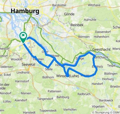 Elbdeichroute - von Harburg nach Winsen/Luhe