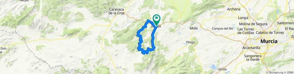 Bullas- Via Verde- Sierra Burete- Sierra Lavia-Sierra Pedro Ponce-Bullas