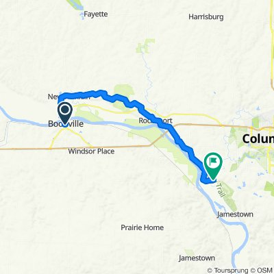 Moderate route in Columbia