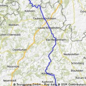 Auf dem Weg nach Wertheim