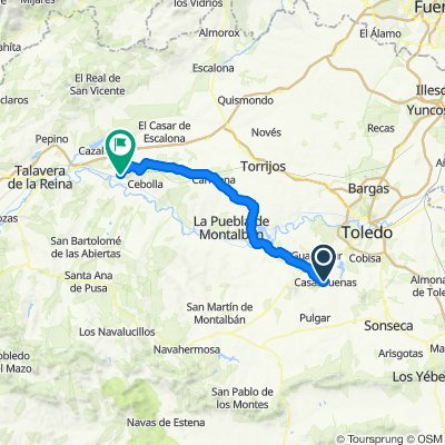 Casasbuenas / Montearagón 61km