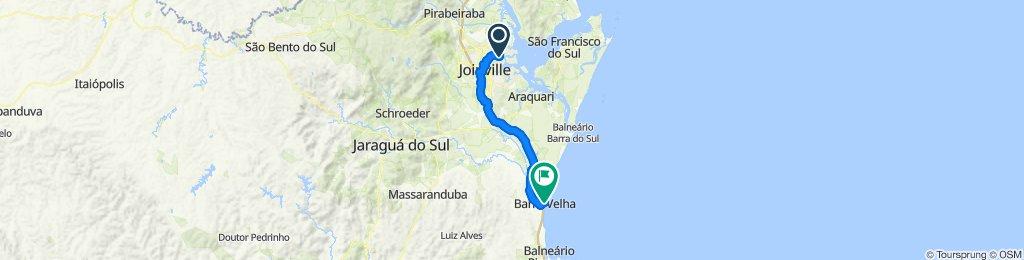 Sporty route in Barra Velha