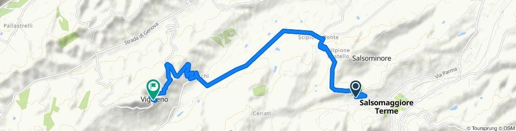 Giro a velocità lenta in Vigoleno