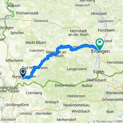 von Burgbernheim nach Erlangen