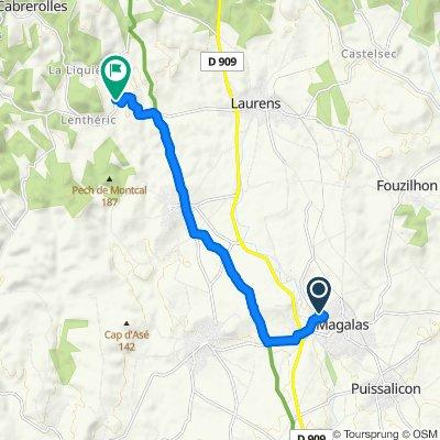 Route stable en Cabrerolles