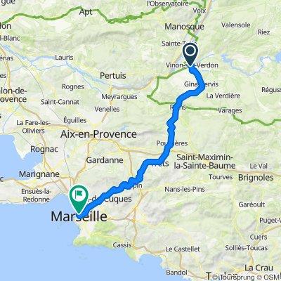 Vinon-sur-Verdon - Marseille