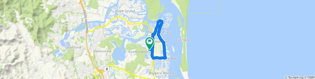 High-speed route in Coombabah