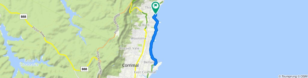 Moderate route in Thirroul
