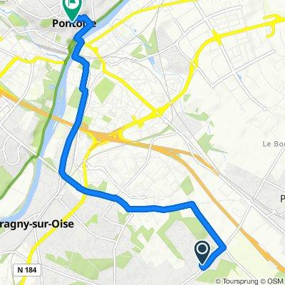 Crisp ride in Pontoise