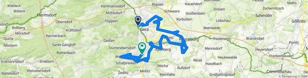 Sportliche Route in Gera
