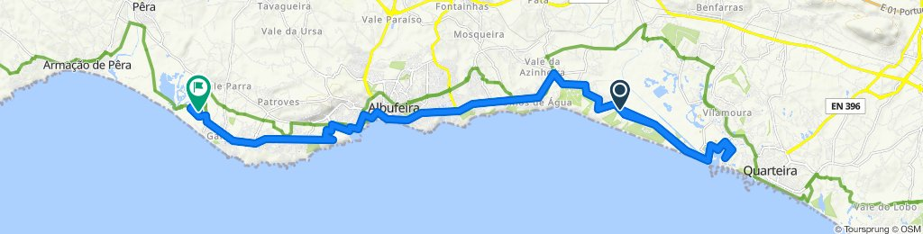 Falesia Vilamoura and back to Salgados via Albufeira old town and marina