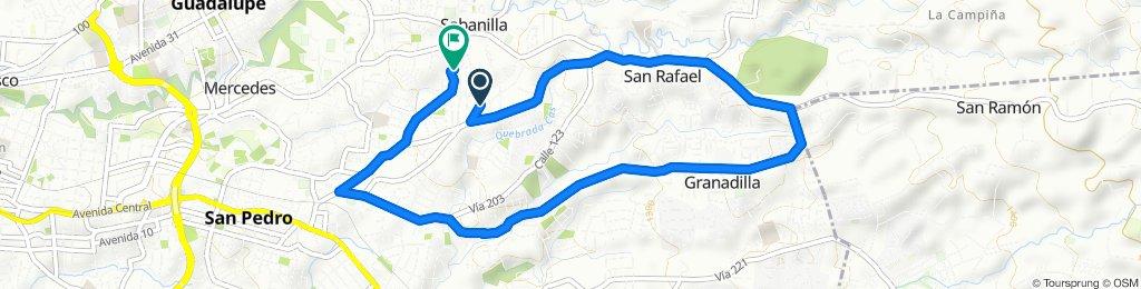 Ruta tranquila en Sabanilla