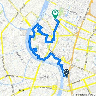 sightseeing route in Bangkok