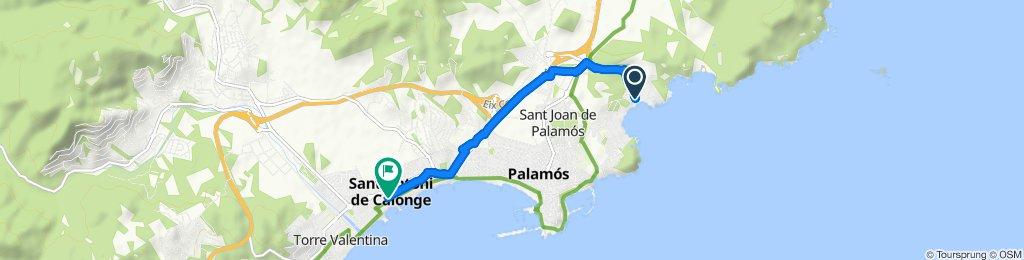Ruta tranquila en Calonge
