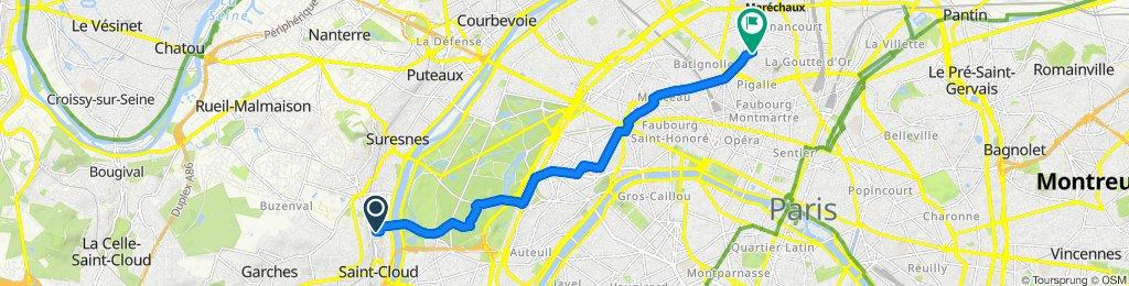 Moderate route in Paris