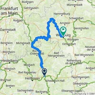 Öhringen nach Würzburg