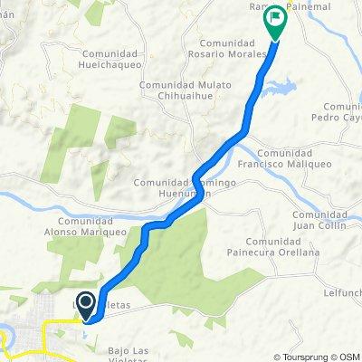 Ruta rápida en Cholchol