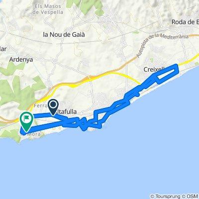 Langsame Fahrt in Tarragona