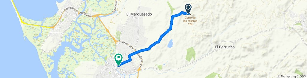 Ruta constante en Chiclana de la Frontera