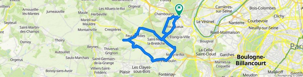 Supersonic route in Saint-Germain-en-Laye