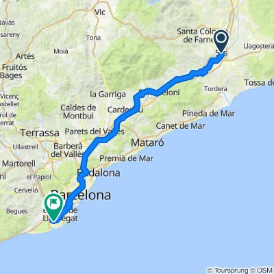 Barcelona to sils