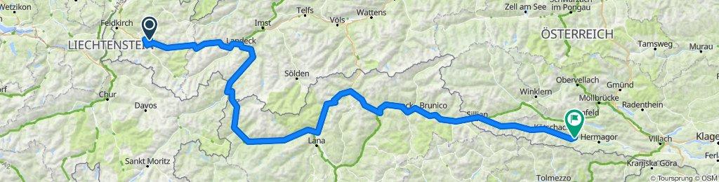 Nüziders Kirchbach Reschenpass Jaufen