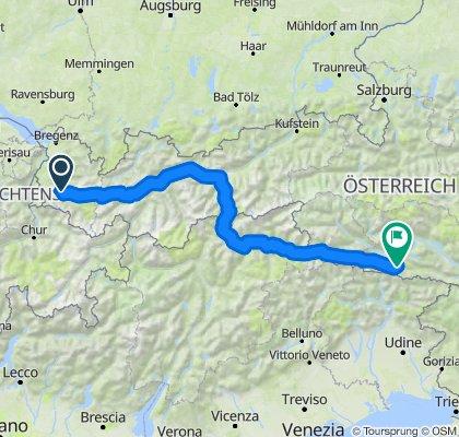 Nüziders Kirchbach über Brenner