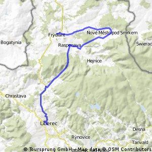 Liberec - Frýdlant přes Nové Město