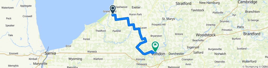 Day 1 - 2020 PwC MS Bike Grand Bend to London