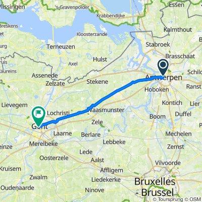 Antwerpen to Ghent