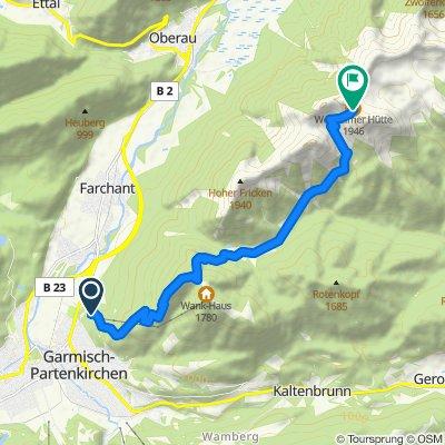 Wankbahnstation - Weilheimer Hütte - lange Tour