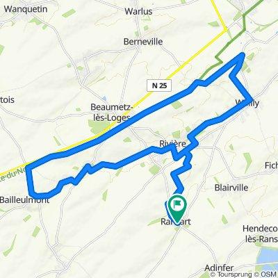 Itinéraire facile en Ransart
