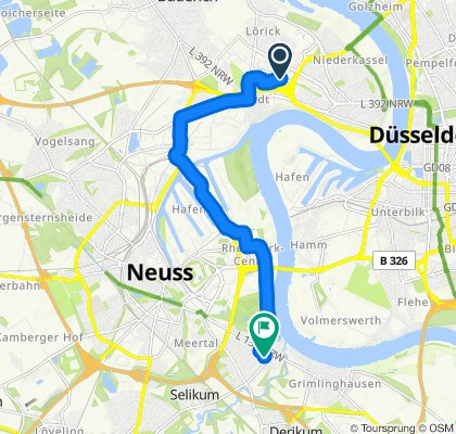 Entspannende Route in Neuss