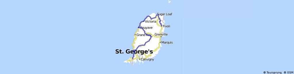 Tivoli - Sauters - Gouyave - Clozier - Birchgrove - Grand Etang - St Georges - Sugar Mill