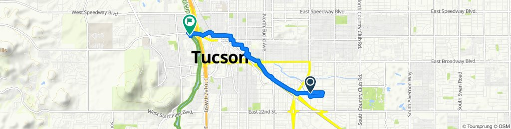 Relaxed route in Tucson
