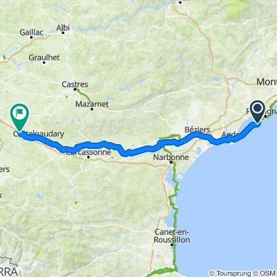 Sete to Port-Lauragais