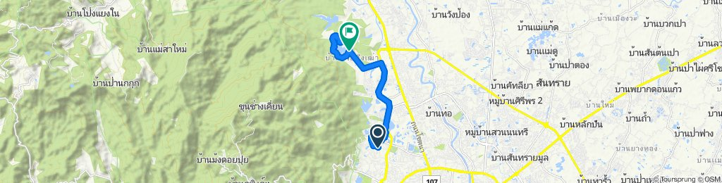 Supersonic route in Chiang Mai