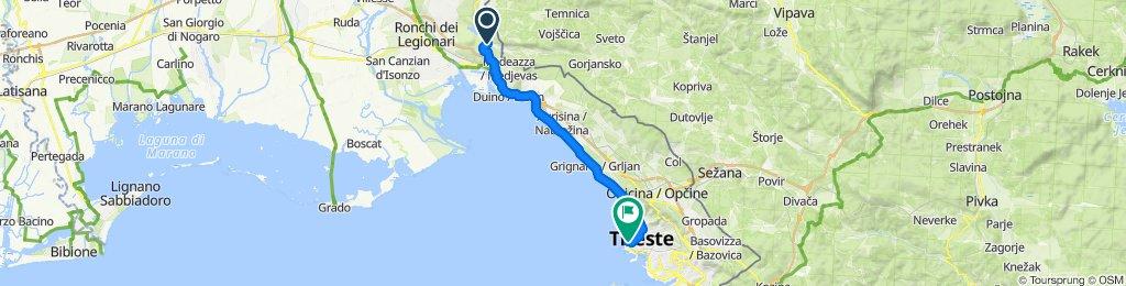 Venice 2020 Sunday Jamiano to Trieste Alternative via coast