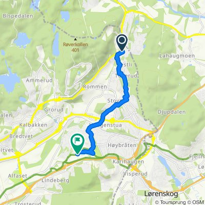 Grønne sykkelruter, Oslo: Trondheimsveien (Rv4) ved Vestli – Haugenstua – Furuset senter