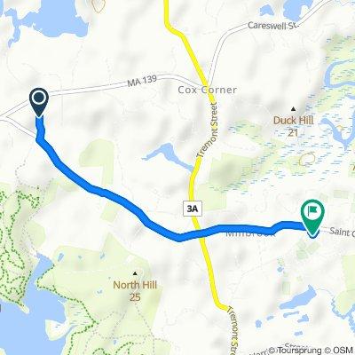 Moderate route in Duxbury