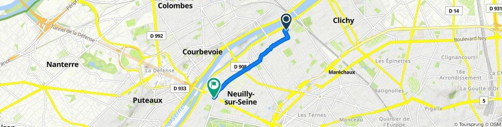 Slow ride in Neuilly-sur-Seine