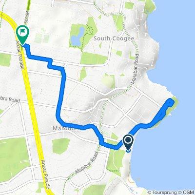 Restful route in Randwick