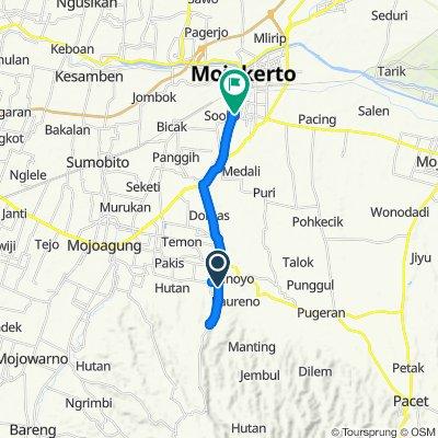 Fast ride in Kecamatan Sooko