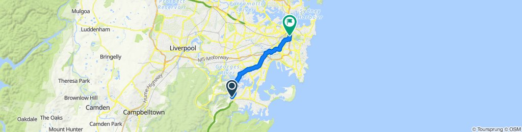 Restful route in Redfern