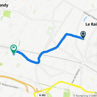 Itinéraire confortable en Bondy