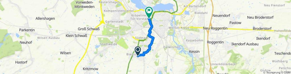 Bäcker Route in Rostock