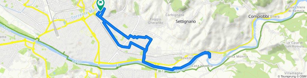 Giro a velocità costante in Firenze