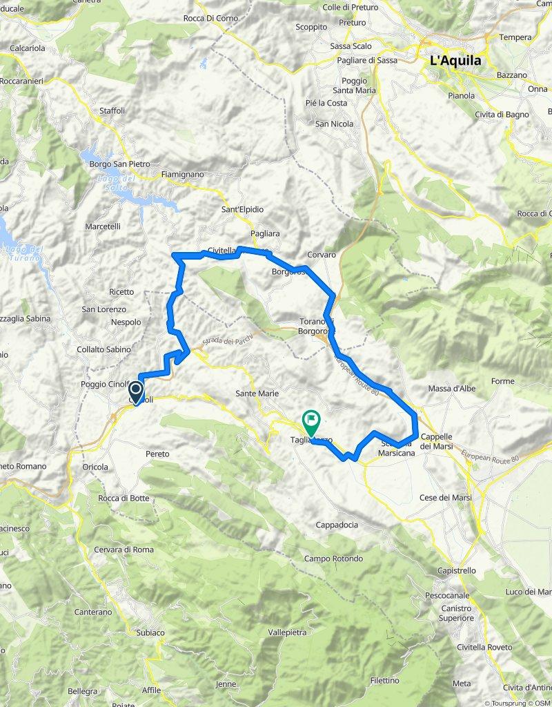 Carsoli-Pescorocchiano-Tagliacozzo