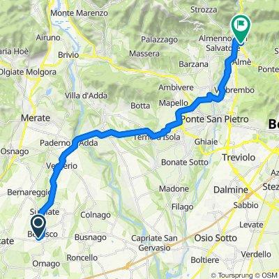 Giro a velocità lenta in Villa d'Almè